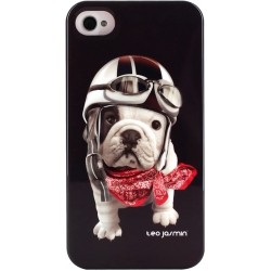 Coque  iPhone 4/4S rigide Teo Jasmin Racing noire