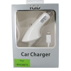 Chargeur Allume-Cigare IP5/5C/5S (5V-1A) - Blanc