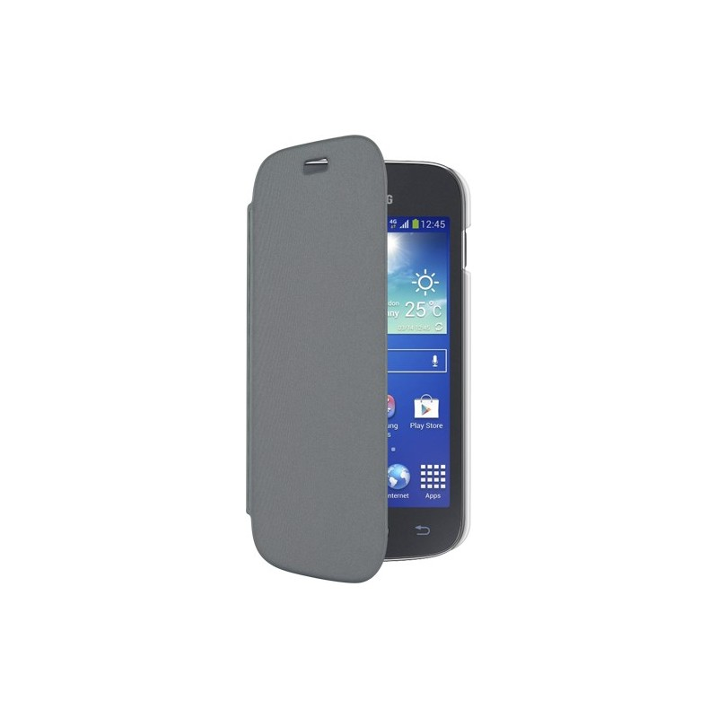 Etui folio gris Made in France pour Samsung Galaxy Ace 4 G357