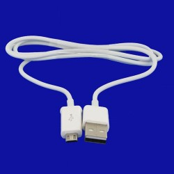 Cable data et charge micro usb - Blanc