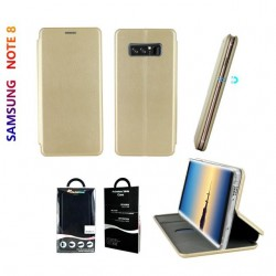 Etui Samsung Galaxy Note 8 - Or Folio Business avec fermeture aimantee