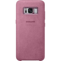 Coque rigide Samsung Galaxy S8 alcanta rose