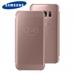 Etui pour Samsung Galaxy S7 - Clear View Cover Officielle  – Or Rose