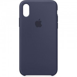 Coque pour iPhone XS Max - Silicone midnight blue officiel Apple