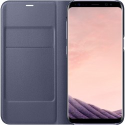 Etui pour Galaxy S8 G950 - folio LED View Cover Samsung EF-NG950PV violet