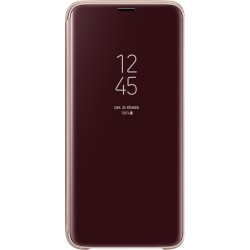 Etui pour Galaxy S9 - Clear View Cover Samsung doré