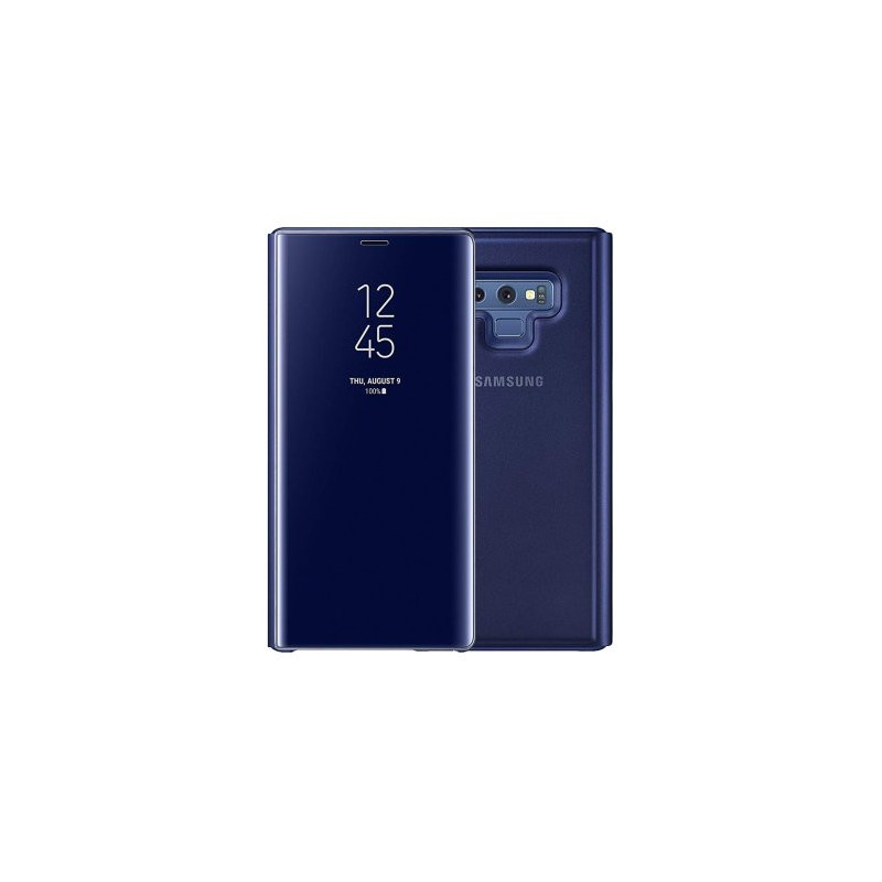 Etui pour Samsung Galaxy Note 9  - Clear View Stand Cover bleu