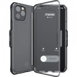 Etui pour iPhone 11 ProMax - folio Itskins Spectrum Vision clear