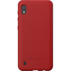 Coque souple pour Samsung Galaxy A10 A105 Just Green rouge