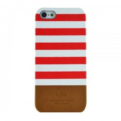 Coque blanche rouge Iphone 5/5S