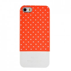 Coque pois rouge gris Iphone 5/5S