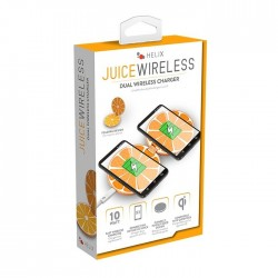DOUBLE CHARGEUR INDUCTION ORANGE 10W
